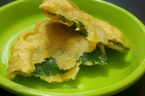 photo of malabar spinach fritters