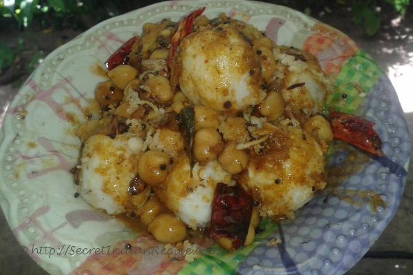 Pidi with kadala curry