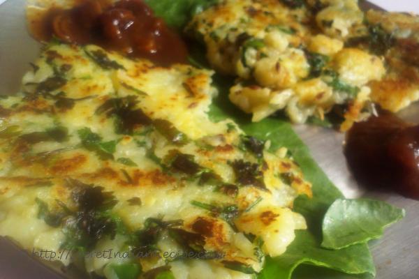 photo of aloo ka chila (potato pancake for fasting)