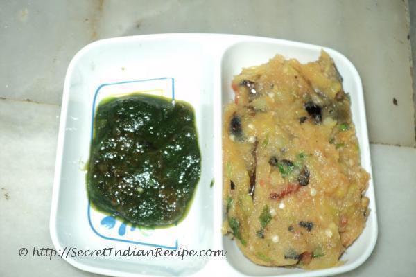 photo of bhuna bigan ka bharta (roasted brinjal bharta)