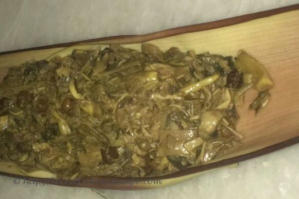 Picture of : Mochar torkari ( Banana flower curry