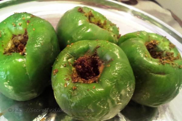 photo of Stuffed capsicum with dry masala