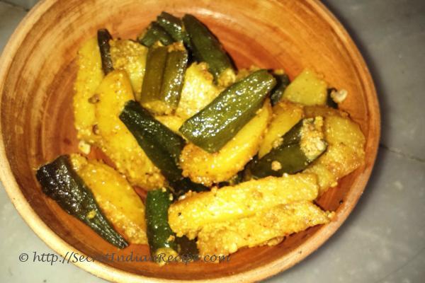 lahsunposto wali bhindi