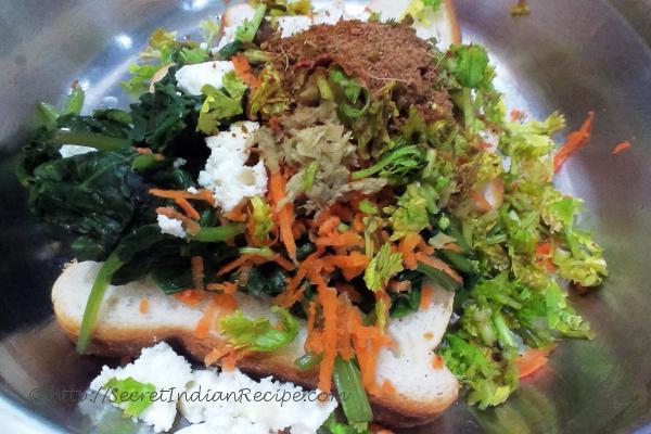 photo of palak bonda aur dahi ki chutney (spinach cutlet with yoghurt dip)