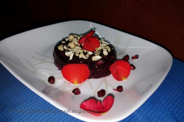 photo of pomegranate halwa