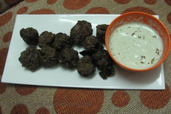 photo of kabab with curd dip
