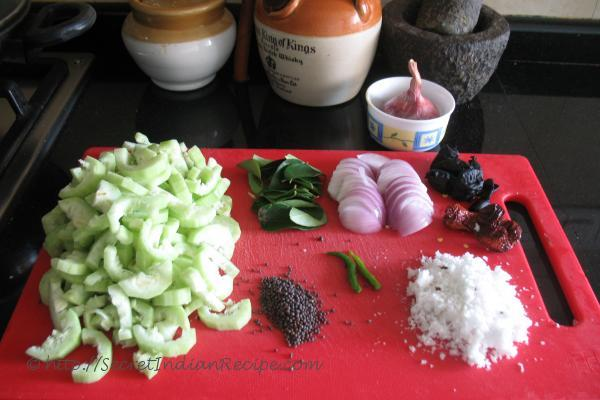 photo of padwal with kokum (snake gourd with kokum)