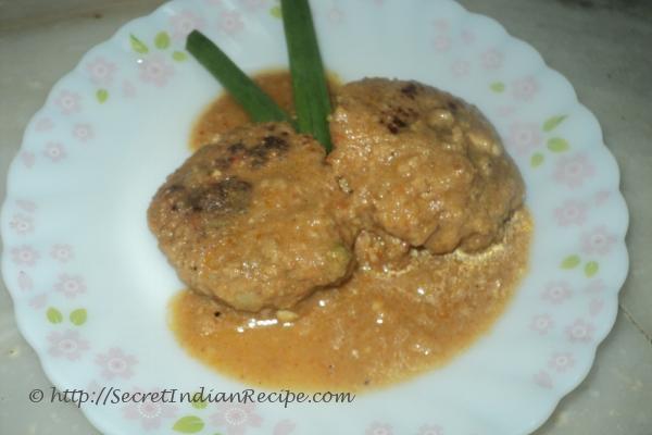 picture of Mutton keema tikia ( minced mutton tikia curry)
