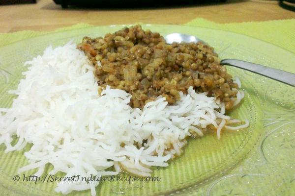 Kolhapuri Usal with Rice