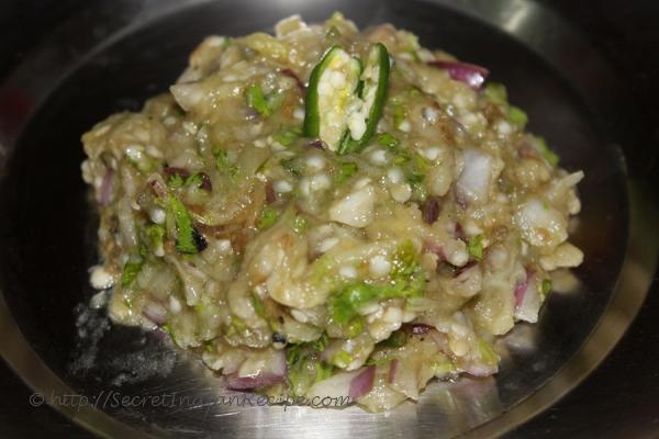Baigana Bharta (Roasted Brinjal Bharta)
