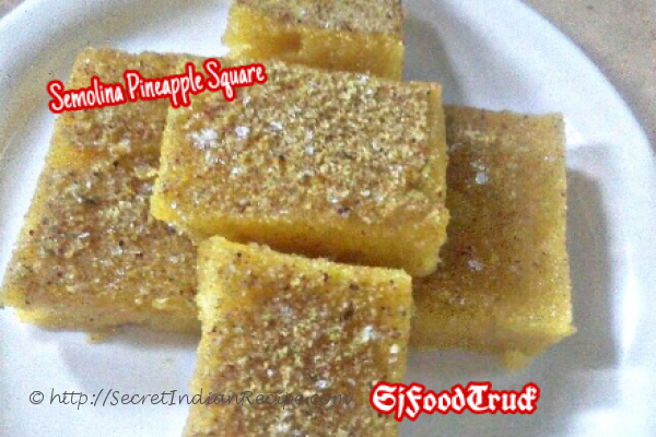 photo of semolina pineapple square