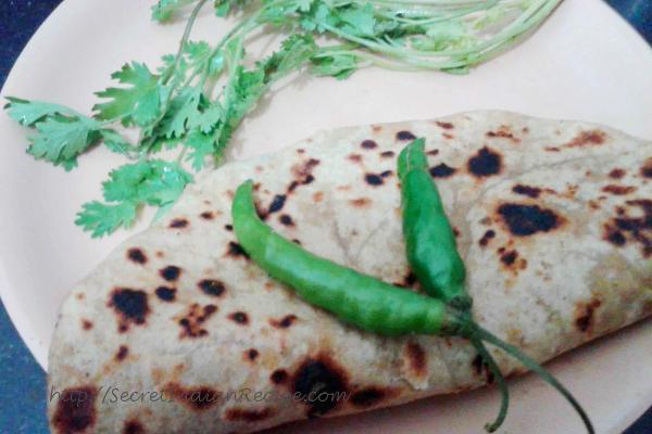 Picture of: Spicy Papad Paratha (Papad Stuffed Paratha)