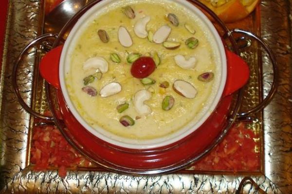 photo of kumhadh kheer(red pumpkin and rice kheer)