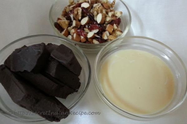 chocolate , Milkmaid & all mix nuts.