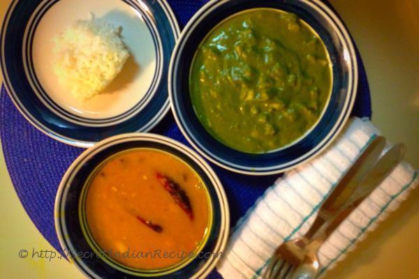 Palak Paneer & Channa Daal Tadka the perfect lunch!