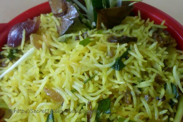 photo of pyaji pulao