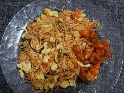 photo of egg hakka noodles recipe
