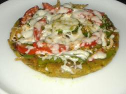 photo of kothimbir vadi pizza