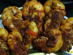 photo of fried tiger Prawns