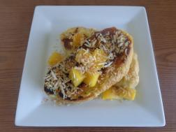 photo of mango lassi french toast sandwich