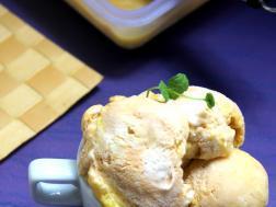 photo of mango ice-cream (no cook, 3 ingredients mango ice-cream recipe)