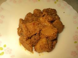 image of paniphal ki sabzi ( water chestnut curry)