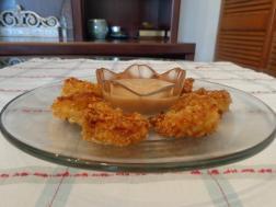 photo of tandoori popcorn shrimp with kick-in yogurt sauce