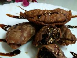 photo of almond chocolate gujias