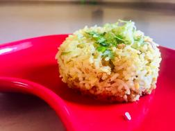 photo of raw mango rice ( chitranna)