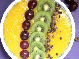 photo of mango smoothie breakfast bowl