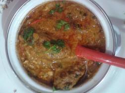 Urundai kari Kuzhambu - Minced meat ball gravy