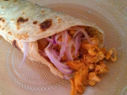 photo of chicken roll (indian street food chicken wrap)